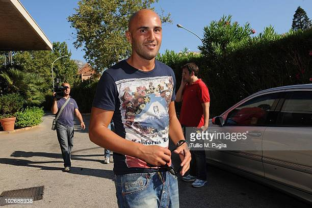 Massimo Maccarone arrives at US Citta di Palermo PreSeason meeting at Mondello Palace Hotel on July 7 2010 in Palermo Italy