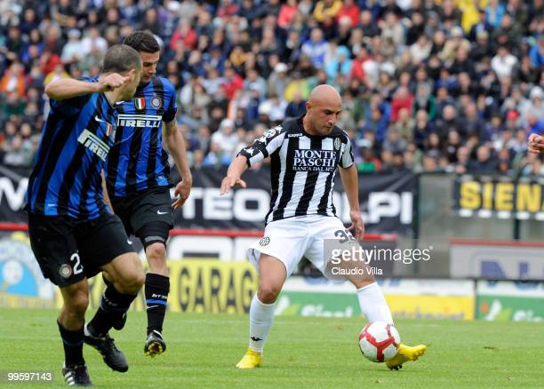 Massimo Maccarone of AC Siena during the Serie A match between AC Siena and FC Internazionale Milano at Stadio Artemio Franchi on May 16 2010 in...