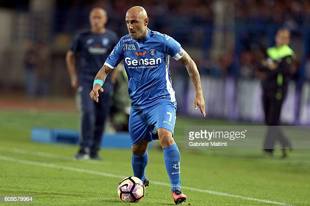 Massimo Maccarone of Empoli FC in action during the Serie A match between Empoli FC and FC Internazionale at Stadio Carlo Castellani on September 21...