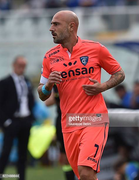 Massimo Maccarone of Empoli FC in action during the Serie A match between Pescara Calcio and Empoli FC at Adriatico Stadium on November 6 2016 in...