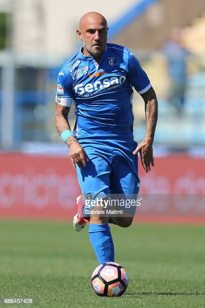 Massimo Maccarone of Empoli FC in action during the Serie A match between Empoli FC and Atalanta BC at Stadio Carlo Castellani on May 21 2017 in...