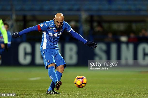 Massimo Maccarone of Empoli FC scores the opening goal during the Serie A match between Empoli FC and US Citta di Palermo at Stadio Carlo Castellani...