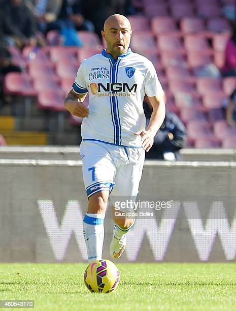 Massimo Maccarone of Empoli in action during the Serie A match between SSC Napoli and Empoli FC at Stadio San Paolo on December 7 2014 in Naples Italy