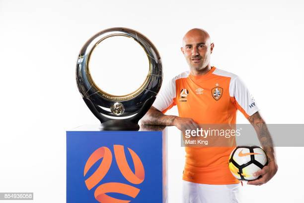 Massimo Maccarone of the Brisbane Roar poses during the ALeague Media Day on September 26 2017 in Sydney Australia