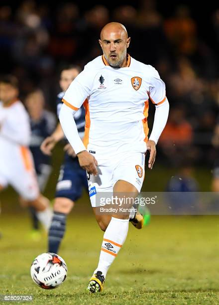 Massimo Maccarone of the Roar breaks away from the defence during the FFA Cup round of 32 match between the Brisbane Roar and the Melbourne Victory...