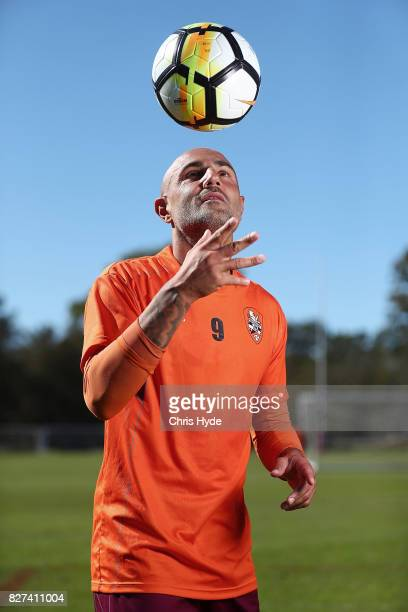 Massimo Maccarone poses after a Brisbane Roar training session at Ballymore Stadium on August 8 2017 in Brisbane Australia