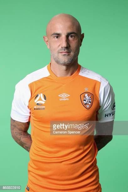 Massimo Maccarone poses during the Brisbane Roar 2017/18 ALeague Headshots Session at Fox Sports Studios on September 15 2017 in Sydney Australia