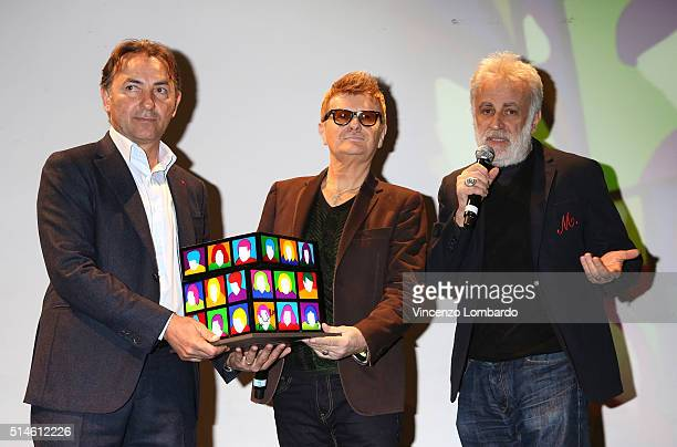 Massimo Mauro Ron and Marco Lodola present 'La Forza Di Dire Si' on March 10 2016 in Milan Italy