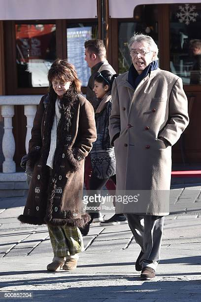Massimo Moratti and Milly Moratti are seen during the 25th Courmayeur Noir In Festival on December 10 2015 in Courmayeur Italy