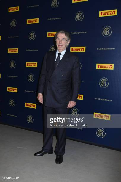 Massimo Moratti attends the 110th FC Internazionale Anniversary Ceremony Award at Hangar Pirelli on March 9 2018 in Milan Italy