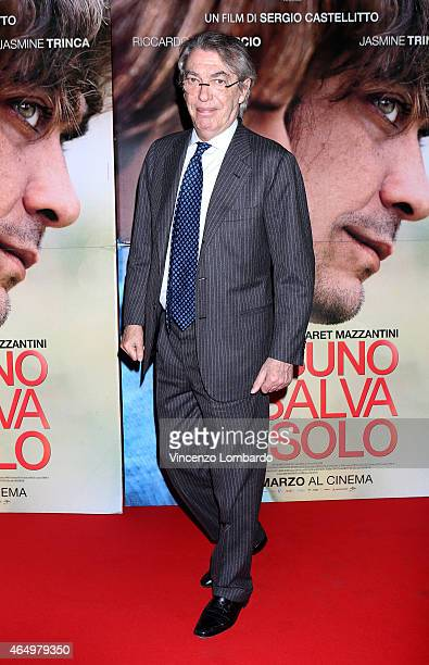 Massimo Moratti attends the 'Nessuno Si Salva Da Solo' Screening in Milan on March 2 2015 in Milan Italy