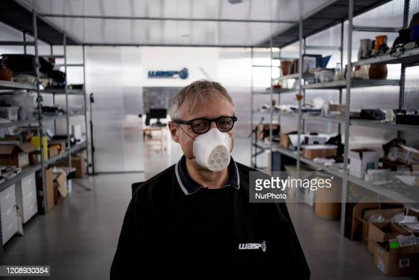 Massimo Moretti founder of the World's Advanced Saving Project a company that quickly designed and put into production masks printed with the 3D...