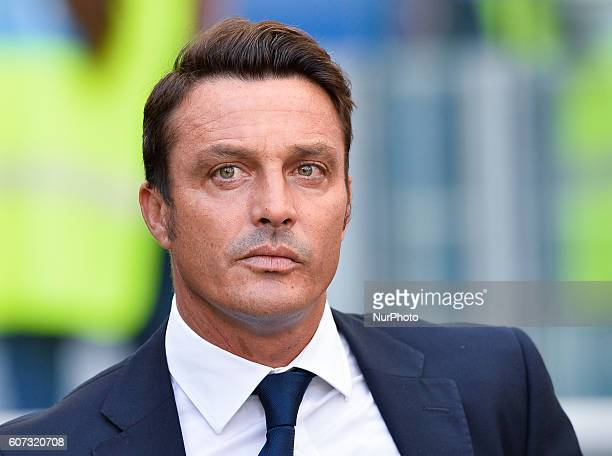 Massimo Oddo during the Italian Serie A football match between SS Lazio and Pescara Calcio at the Olympic Stadium in Rome on september 17 2016