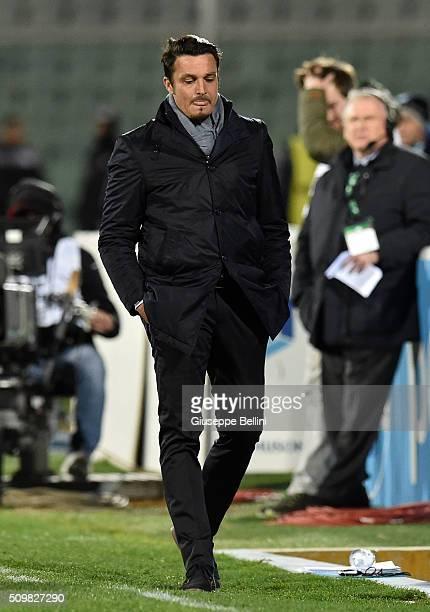 Massimo Oddo head coach of Pescara Calcio during the Serie B match between Pescara Calcio and Vicenza Calcio at Adriatico Stadium on February 12 2016...