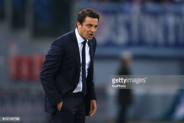 Massimo Oddo manager of Udinese during the Serie A match between SS Lazio and Udinese Calcio on January 24 2018 in Rome Italy