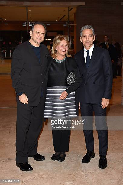 Massimo Popolizio Fiorella Infaselli and Beppe Fiorello attend a photocall for 'Era D'Estate' during the 10th Rome Film Fest at Auditorium Parco...