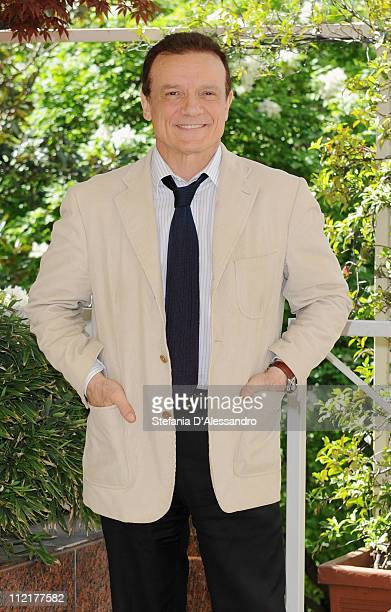 Massimo Ranieri attends a photocall for Napoli Milionaria at Hotel Westin Palace on April 13 2011 in Milan Italy