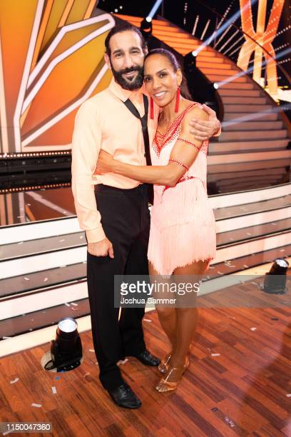 Massimo Sinato and Barbara Becker are seen during the 8th show of the 12th season of the television competition Let's Dance on May 17 2019 in Cologne...