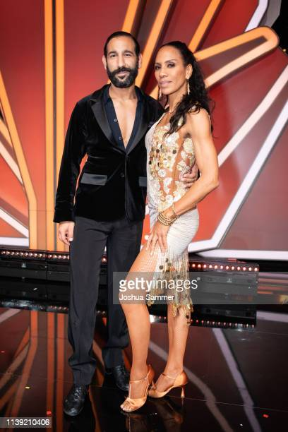 """Massimo Sinato and Barbara Becker during the 2nd show of the 12th season of the television competition """"Let's Dance"""" on March 29, 2019 in Cologne,..."""