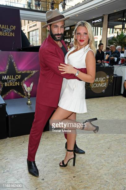 Massimo Sinato and Evelyn Burdecki attend the Mall of Berlin Dance Competition Finals on August 31, 2019 in Berlin, Germany.