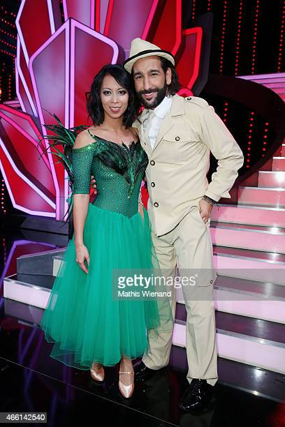 Massimo Sinato and MinhKhai PhanThi attend the 1st show of the television competition 'Let's Dance' on March 13 2015 in Cologne Germany