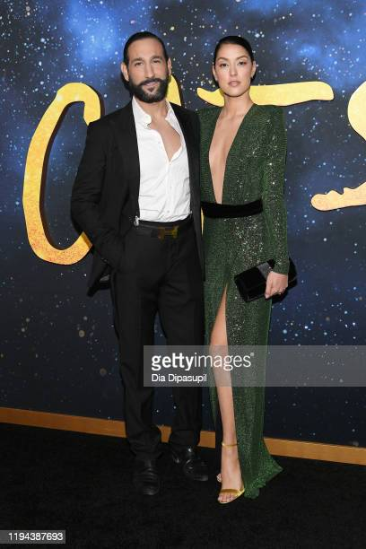 Massimo Sinato and Rebecca Mir attend the world premiere of Cats at Alice Tully Hall Lincoln Center on December 16 2019 in New York City