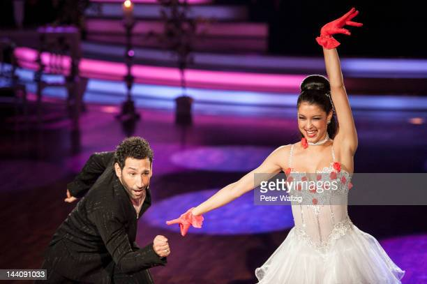 Massimo Sinato and Rebecca Mir perform during 'Let's Dance' 9th Show on May 09 2012 in Cologne Germany