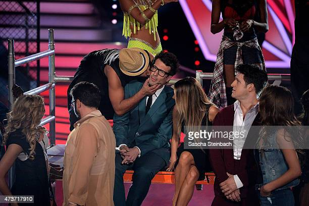 Massimo Sinato kisses Daniel Hartwich during the 9th show of the television competition 'Let's Dance' on May 15 2015 in Cologne Germany