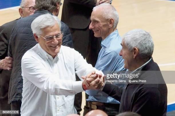 Massimo Zanetti owner of Segafredo meets Pierferdinando Casini ex President of the italian Chamber of Deputies and leaderof UdC political party and...