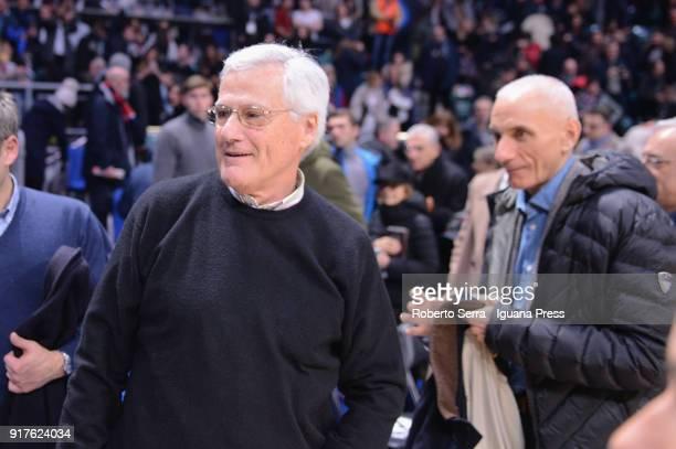 Massimo Zanetti President of Segafredo and Luca Baraldi General Manager celebrates during the LBA Legabasket of Serie A match between Virtus...
