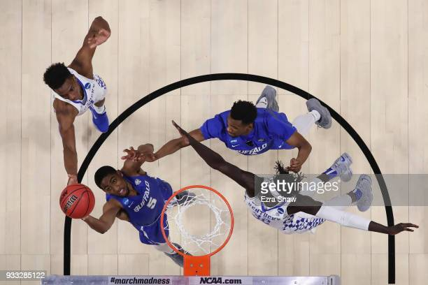 Massinburg of the Buffalo Bulls handles the ball against the Kentucky Wildcats in the second round of the 2018 NCAA Men's Basketball Tournament at...