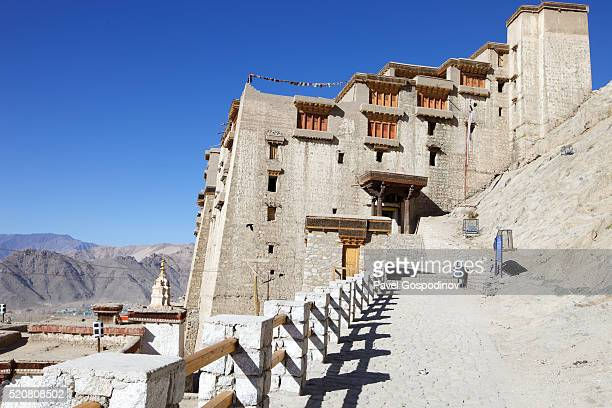 Massive 17th-century Leh Palace, modelled on the Dalai Lama's former home (Tibet's Potala Palace) in Leh (Ladakh), a high-desert city in the Himalayas