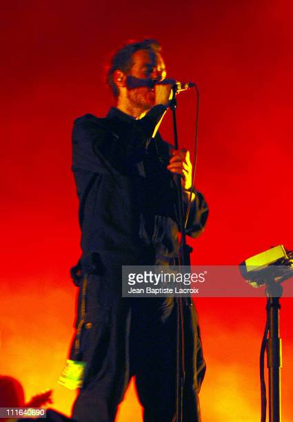 Massive Attack during Rock on Scene Festival 2003 Massive Attack in Concert at St Cloud National Forest in Paris France