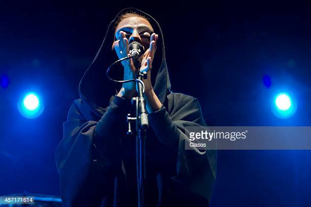 Massive Attack perdorms during a concert as part of Corona Capital Festival day 1 at Hermanos Rodriguez Racetrack on October 11 2014 in Mexico City...