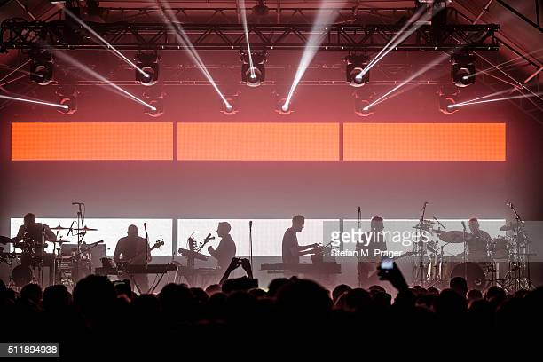Massive Attack perform on stage at Tonhalle on February 21 2016 in Munich Germany