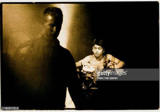 Massive Attack performing on stage Melkweg Amsterdam Netherlands 4th December 1998