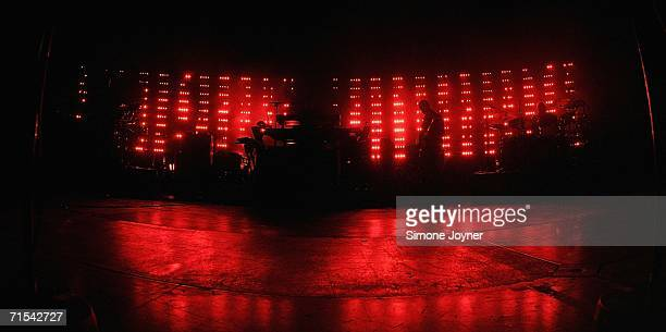 Massive Attack performs live on stage at Westonbirt Arboretum on July 30 2006 in Tetbury England