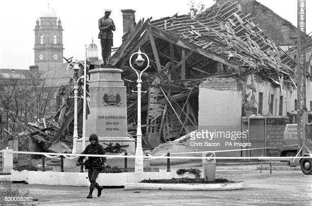 A massive bomb blast at a remembrance ceremony at Enniskillen Northern Ireland kills 11 and injures hundreds An old community centre lies in ruins in...