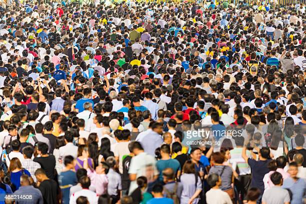 Massive Crowd Attending the Political Rally