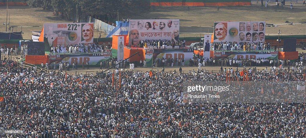 Narendra Modi Rally In Kolkata : News Photo