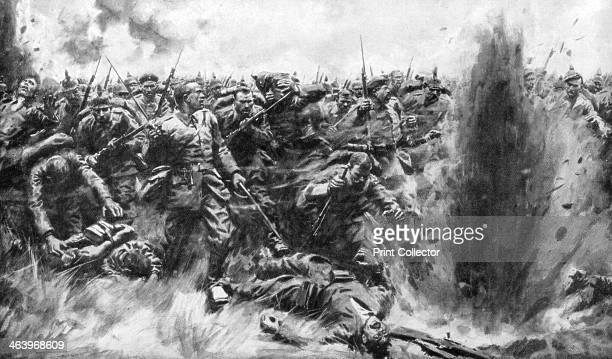 'A Massive German Attack on the British Front' World War I 1914