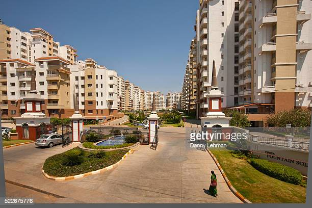 Massive housing complexes for Information Technology Workers in Bangalore, India's Silicon Valley
