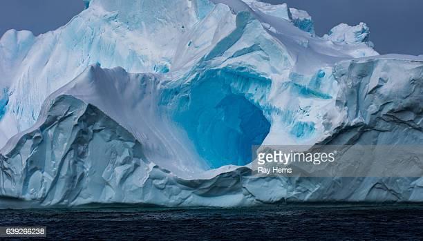Massive Iceberg floating in Antarctica