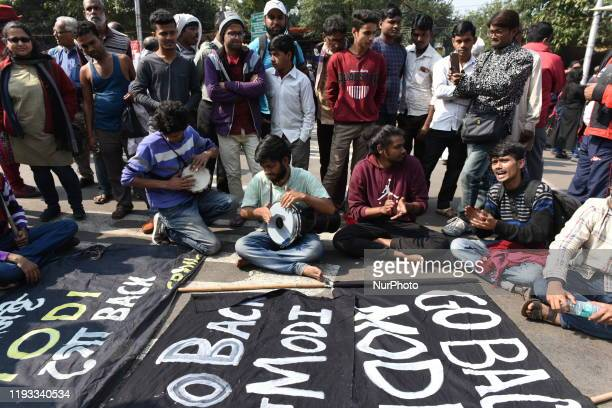 Massive protest broke out in the City Of Joy, Kolkata India on 12 January 2020 during the visit by Indian Prime Minister Narendra Modi from 11th...