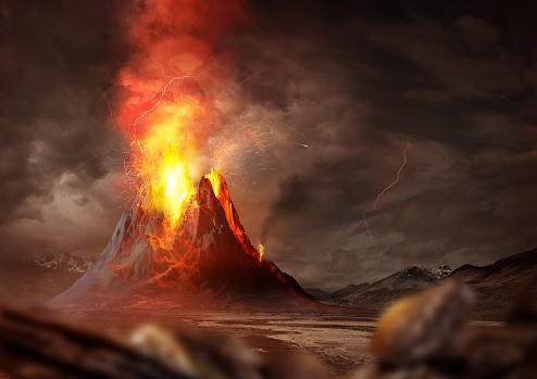Massive Volcano Eruption 813910830