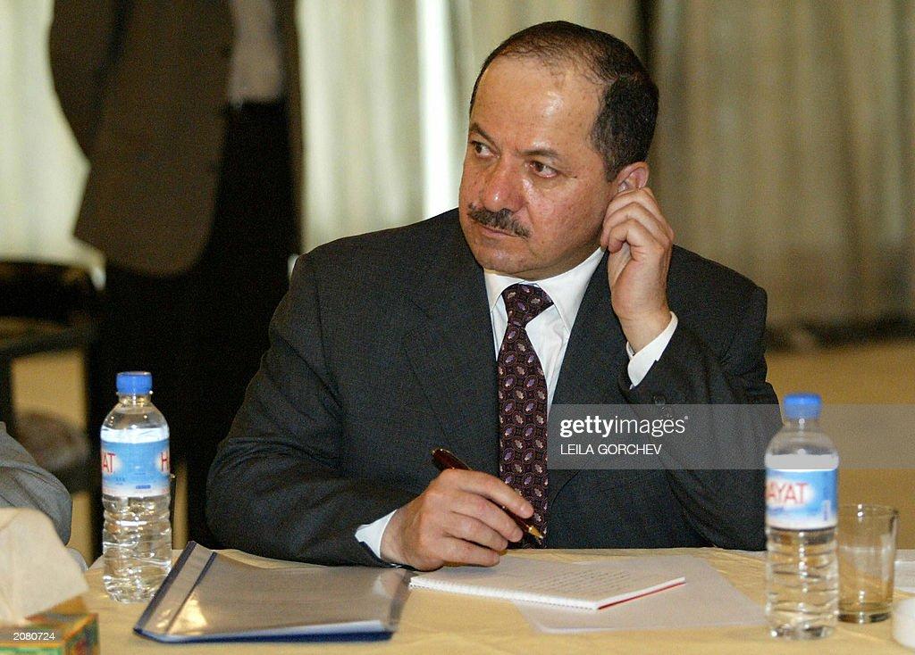Massoud Barzani, head of the Kurdistan D : News Photo