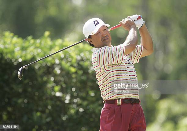 Massy Kuramoto hits from the 13th tee during the second round of the Outback Steakhouse ProAm at TPC Tampa Bay held on April 19 2008 in Lutz Florida
