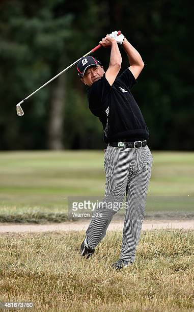 Massy Kuramoto of Japan during the first round of The Senior Open Championship at Sunningdale Golf Club on July 23 2015 in Sunningdale England