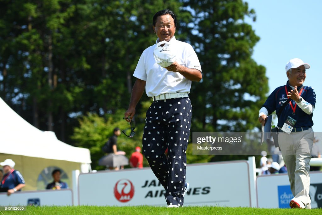 Massy Kuramoto of Japan looks on during the final round of the Japan Airlines Championship at Narita Golf Club-Accordia Golf on September 10, 2017 in Narita, Chiba, Japan.