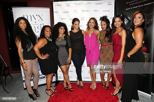 Massy Mankofit Marcy Polanco Valerie Lora Dascha Polanco Nabila Tapia Tahiry Jose Lisa A Ramos and Clairbel Almonte attend Dominicana's In The Mix...